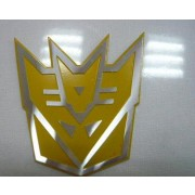 Decal Decepticon YELLOW 3D