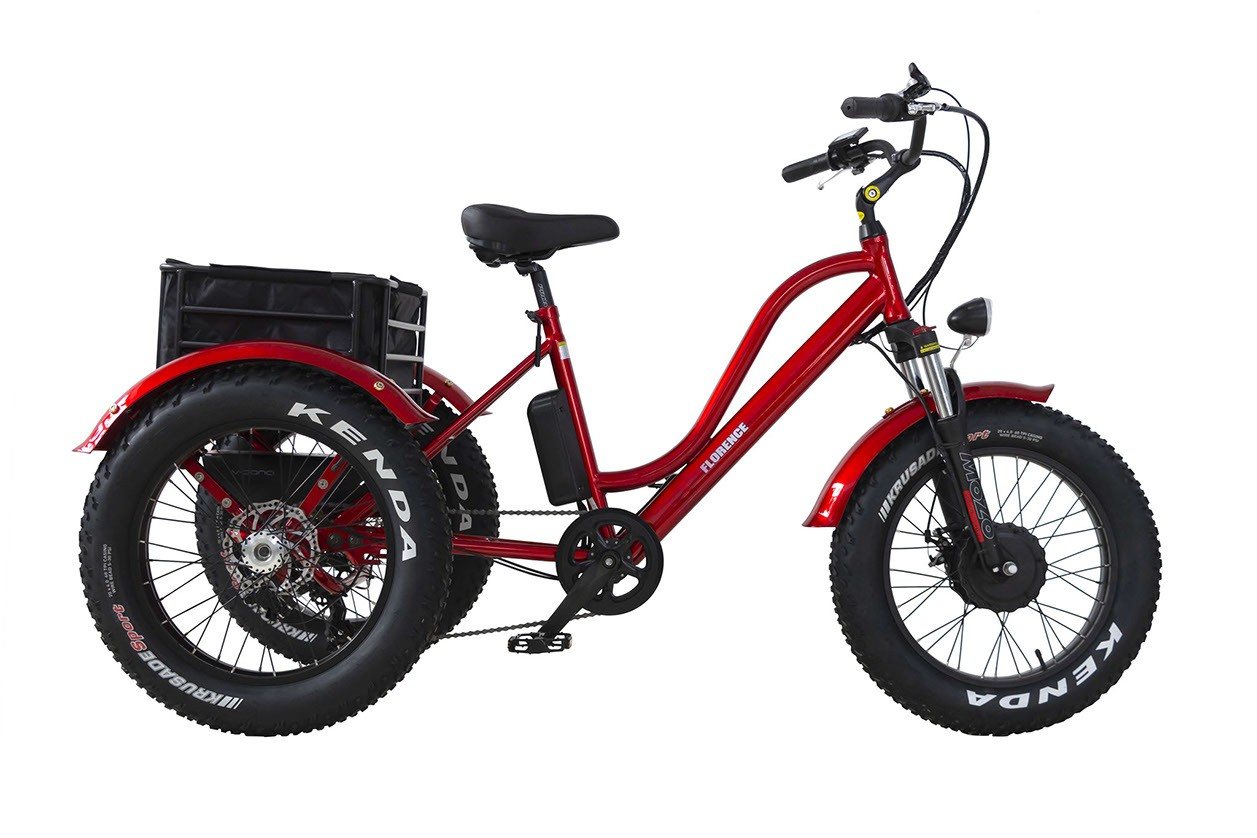 Daymak - Florence Fat Tire 500w 48v Red   Red Range: up to 40km (on throttle)     Max Speed: 32km/h  *Removable Battery